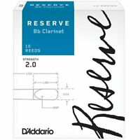 D'Addario Woodwinds Rico Reserve Bb Clarinet Reeds, Strength 2.0, 10-pack