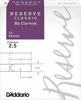 D'Addario Woodwinds Rico Reserve Classic Bb Clarinet Reeds Strength 2.5, 10 Pack