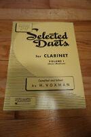 Selected Duets for Clarinet volume I – music book – used
