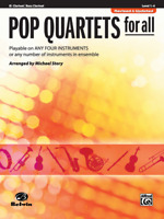 Pop Quartets for All MUSIC BOOK Clarinet and Bass Clarinet REVISED/UPDATED NEW!!