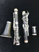 M. Dupont Antique High Pitch Bb clarinet, parts only, hard rubber body, no case