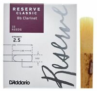 Reserve Classic Bb Clarinet Reeds, 2.5, 10-Pack