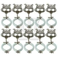 10 PCS Metal Music Sheet Clip Holder for Clarinet Silver