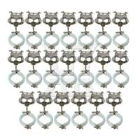 20 PCS Metal Music Sheet Clip Holder for Clarinet Silver