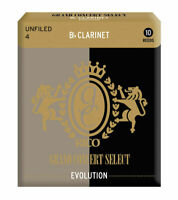 Rico Grand Concert Select Evolution Bb Clarinet Reeds, Strength 4.0, 10 Pack