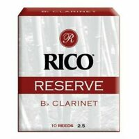 Rico Reserve Bb Clarinet Reeds ,  Strength 2.5, Pack of 10 Reeds No 2 1/2