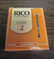 Rico Bb Clarinet Reeds Box of Ten Size # 2 RCA1020 woodwind band