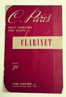 G. Pares, Daily Exercises & Scales for Clarinet, 1912 Carl Fischer, Inc.