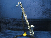 Selmer Depose Wood Bass Clarinet Ser#V7525 Great Shape Beautiful Sound with MPC