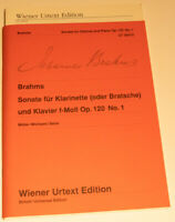 Brahms Sonata for Clarinet or Viola and Piano in F Minor Op 120 No1