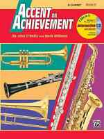 ACCENT ON ACHIEVEMENT-CLARINET MUSIC BOOK 2 W/CD'S/ONLINE ACCESS BRAND NEW SALE!
