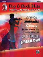 POP & ROCK HITS INSTRUMENTAL SOLOS FOR CLARINET MUSIC BOOK/CD-BRAND NEW ON SALE!