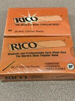 2 Packs Rico Bb Clarinet Reeds, Strength 25 Reeds 3 1/2, Free Shipping *SEALED*