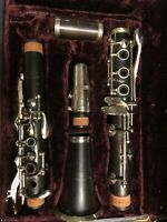 Vintage American (cir. 1950) Wood Clarinet, Well Maintained, Recently Overhauled