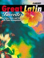 GREAT LATIN FAVORITES MUSIC BOOK FOR CLARINET SOLOS DUETS TRIOS PIANO ACC. NEW