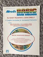 Alfred's Basic Band Method Book 1 for Bb Clarinet (Bass Clarinet) New/Annotated