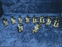 Lot of 10 Non Playing Bb Plastic Clarinets Ser#isi9232-9 Vito/Bundy/Artley etc.