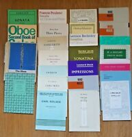 Sheet music Oboe 25 titles to chose from used for Oboe and Piano Clarinet