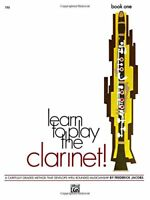 LEARN TO PLAY THE CLARINET! BOOK ONE-1-MUSIC BOOK-BRAND NEW ON SALE-BAND METHOD!
