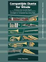 Compatible Duets for Winds MUSIC BOOK FOR CLARINET/TRUMPET/TENOR SAX NEW ON SALE
