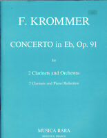 Krommer - Concerto in Eb, Op. 91 for 2 Clarinets and Orchestra, Piano Reductiom