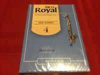One Box of 10 RICO ROYAL BASS CLARINET REEDS #4 FRENCH FILE CUT