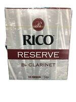 Rico RCR10355 Reserve Clarinet Box of 10 - 3.5+ *New In Box* by D'addario