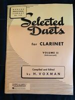 Selected duets for clarinet volume II (advanced)