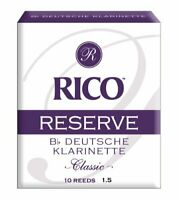 Rico Reserve Classic German Bb Clarinet Reeds Strength 1.5 10-pack