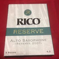 5 PACK RICO RESERVE ALTO SAXOPHONE REEDS #4    SAX - BY D'ADDARIO