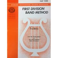 First Division Band Method Part 3 - Bass Clarinet