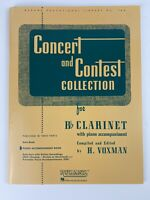 Hal Leonard Concert And Contest Collection for B Flat Clarinet with Piano A