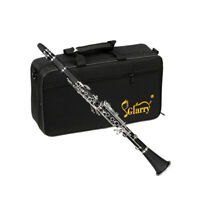 Glarry 17-Keys B-Flat Clarinet with 2 Mouthpieces Connector for Beginner Student