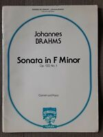 Brahms Sonata for Clarinet and Piano in F minor ACCOMPANIMENT SHEET MUSIC ONLY