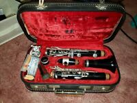 EVETTE BUFFET CLARINET PARIS FRANCE 1950'S  with hard case repaired