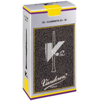 Vandoren V12 Bb Clarinet Reeds More Strength Box of 10