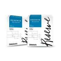 D'Addario Woodwinds Reserve Bb Clarinet Reeds 10-Pack, 2 Box Special 3.5+