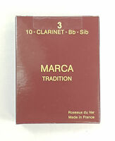 Clarinet reeds for Sib/Bb clarinet. MARCA Tradition - box of 10 reeds