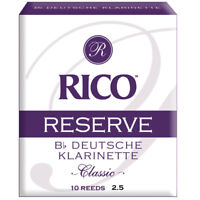 Rico Reserve Classic German Bb Clarinet Reeds 2.5 - 10 pack, New!