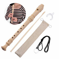 QI MEI 6-Hole German Style Soprano Descant Recorder Flute with Cleaning Rod D0V0