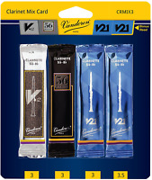Vandoren CRMIX3 Bb Clarinet Reed Mix Card, Includes 1 Each of V12, 56 Rue Lepic,