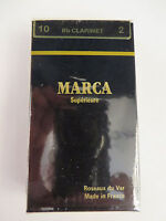 Clearance Marca Superieure 2 Bb Clarinet,  Box of 10 French Reeds