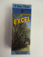 Clearance Marca Excel 3 Tenor Saxophone Reeds, Box of 5 French Reeds