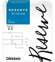 Reserve Bb Clarinet Reeds, 2.5, 10-Pack