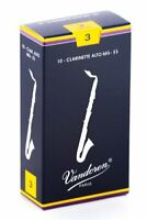 Vandoren CR143 Alto Clarinet Traditional Reeds Strength 3 Box of 10