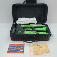 Mendini By Cecilio Green ABS Bb Clarinet w/ Case Care Kit For Student Beginner