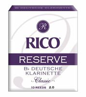 Rico Reserve Classic German Bb Clarinet Reeds Strength 2.0 10-pack