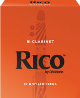 Rico by D'Addario Bb Clarinet Reeds 10-Pack *CHOOSE # 2, 2.5, 3, 3.5