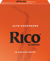Rico by D'Addario Alto Saxophone Reeds 10-Pack *CHOOSE # 2, 2.5, 3, 3.5, 4