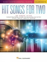 Hit Songs for Two Clarinets Easy Instrumental Duets Book NEW 000252483